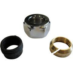 M24 15mm staal/koper koppeling - chroom